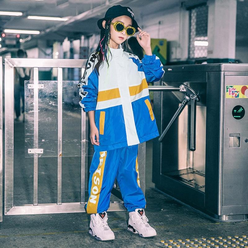 Korean Version Girls Jazz Dance Costume Children'S Street Hip Hop Performance Suit Boys Autumn Loose Sport Wear Tide DL4677