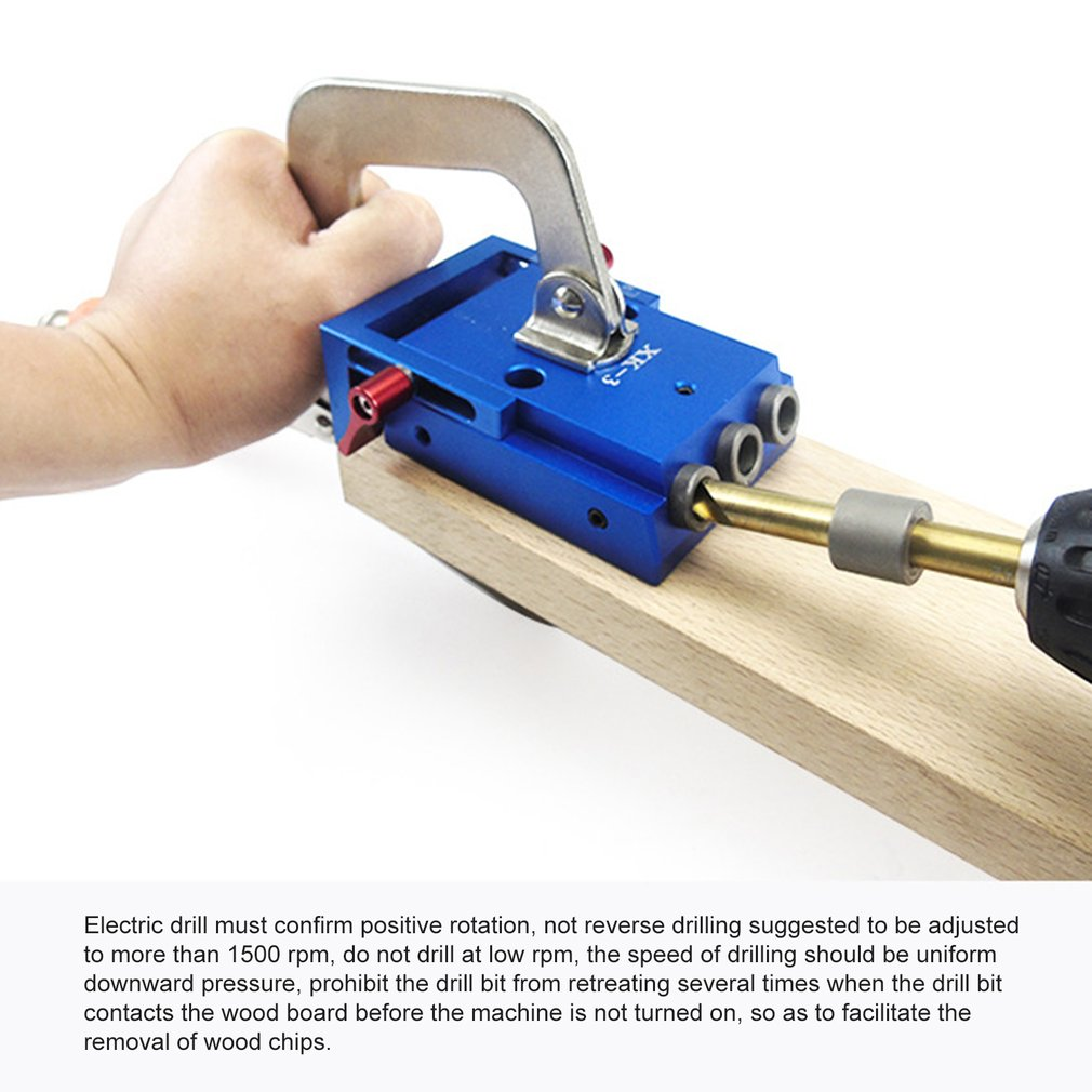 XK 3 Pocket Hole Jig Kit Oblique Hole Locator Woodworking Puncher Oblique Hole Opener Woodworking DIY Furniture Tool|Woodworking Machinery Parts| |  - title=