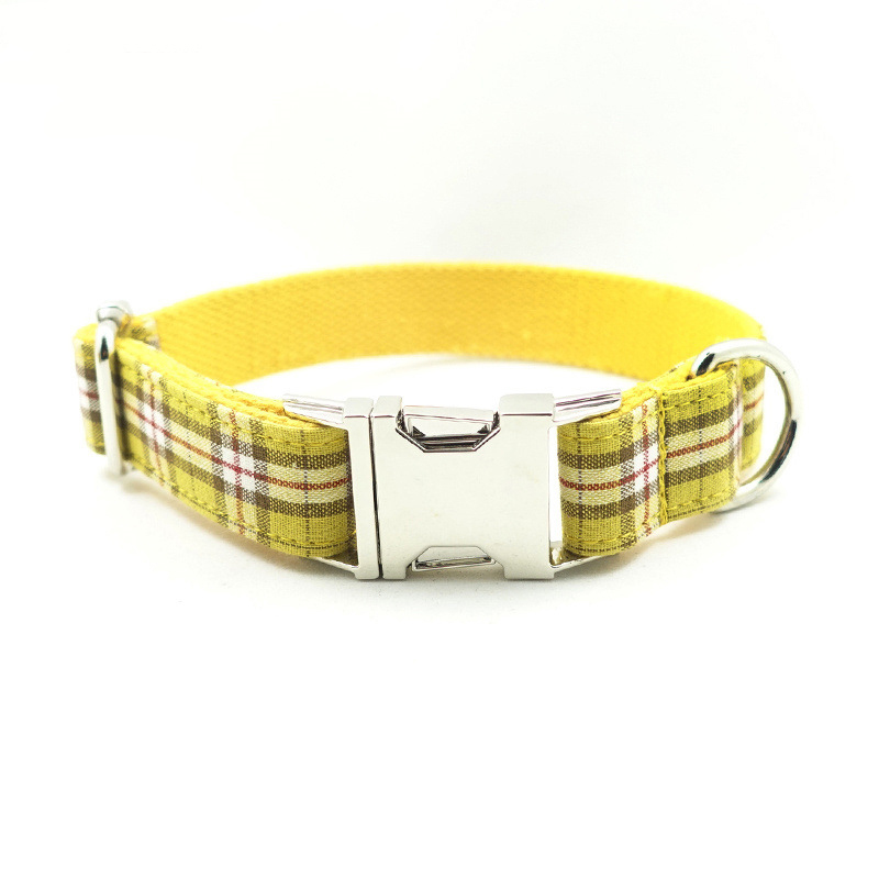 Pet products laser lettering <font><b>collar</b></font> to prevent loss of <font><b>collar</b></font> <font><b>dog</b></font> <font><b>Plaid</b></font> neck <font><b>set</b></font> image