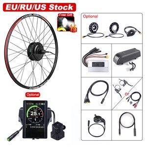 Bafang 48V 500W Electric Bicycle Gear Hub Motor Rear Wheel Drive eBike Conversion Kit for DC Cassette Flywheel Engine e-Bike Kit(China)