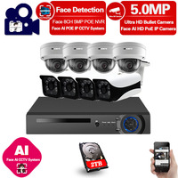 Home Poe Cctv Security System Kit 8 channel Nvr Outdoor Waterproof Video Surveillance Cameras 5mp Poe Ip Camera System Full Set