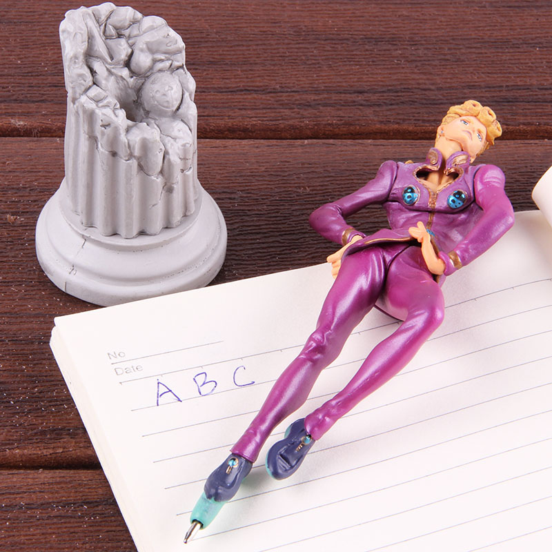 Hot JOJOs Bizarre Adventure Ballpoint Pen Giorno Giovanna Action Figure Toy