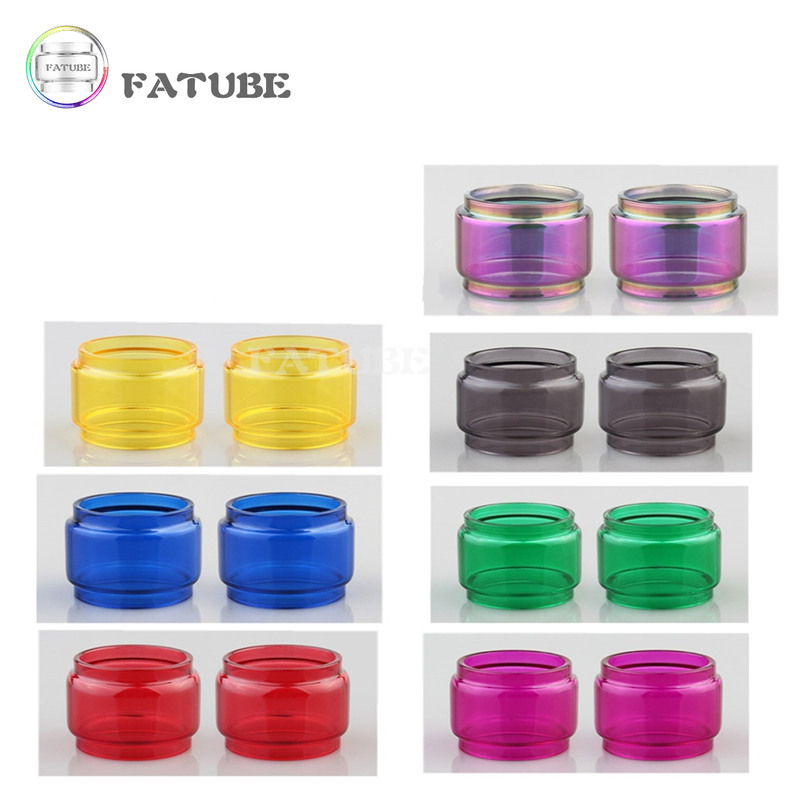 2pcs FATUBE Rainbow colour Bubble Glass TUBE for ZEUS X MESH/Zeus Dual RTA 4ml/ZEUS X 4.5ml/Zeus Sub Ohm Tank 5ml 1