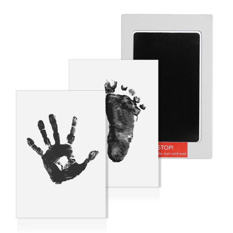 Hot Baby Handprint Footprint Non-Toxic Newborn Imprint Hand Inkpad Watermark Infant Souvenirs Casting Clay Toys