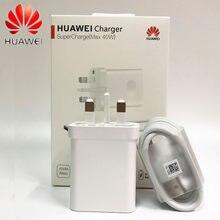 Huawei Carregador 40W Original 10V4A Supercharge UK adaptador de Carga 5A USB cabo tipo c para Nova 5 6 7 7 pro Companheiro 30 30 pro P40 pro