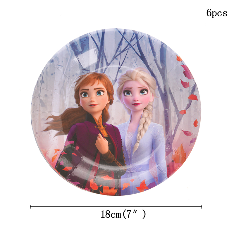 6pcs/lot Disney Frozen Paper Candy Box Cartoon Happy Birthday Decoration Theme Party Supply For Kids