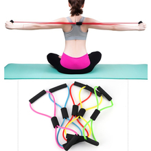 2020 Hot Yoga Gum Fitness Resistance 8 Word Chest Expander Rope Workout Muscle Rubber Elastic Bands for Sports Exercise