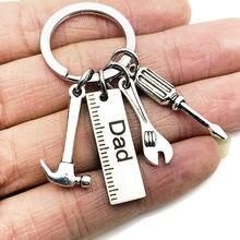 Letras do pai, chaveiros criativos, chave de fenda, bolsa de mão, decoração, pingente de borla, presentes do dia dos pais