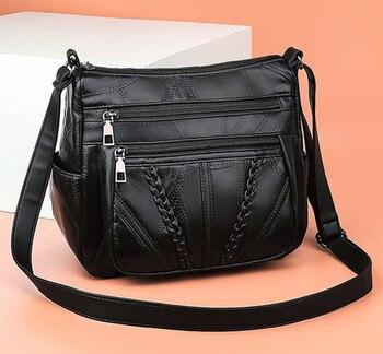 Women Genuine Leather Shoulder Bags Female  Crossbody For Ladies Designer Handbag