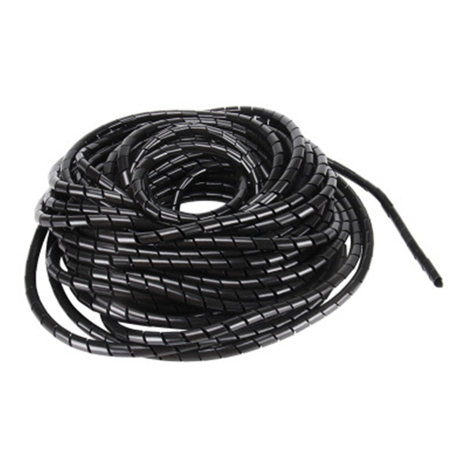 Spiral Cable Wire Wrap Tube Diameter 8mm 12 Meter PE Manage Cord White Black For 3D Printers Parts Polyethylene PE Winding Tube