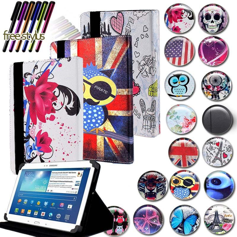 KK&LL For Samsung Galaxy Tab 3 10.1 P5200 GT-P5210 - Leather Tablet Stand Folio Cover Case + Free Stylus