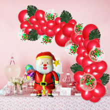 Christmas Balloons Confetti Latex Set Foil Decorations Birthday Party Decoration Kids Ballons