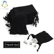 Sacos & malotes de cordão de veludo de veludo para o jogo de presente para o jogo de tabuleiro gyh saco de veludo de embalagem de jóias de saco de dados 7*9cm / 9*12cm