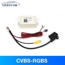 CVBS-RGBS caixa conversor de câmera retrovisor v1906 av para adaptador sinal rgb com caixa atraso de tempo para vw rcd510 rns510 rns315 rádio