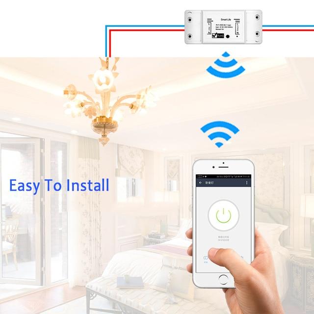 New Smart Light Switch DIY WiFi Breaker Timer Tuya / Smart Life APP Wireless Remote Control Work with Alexa Amazon Google Home 4