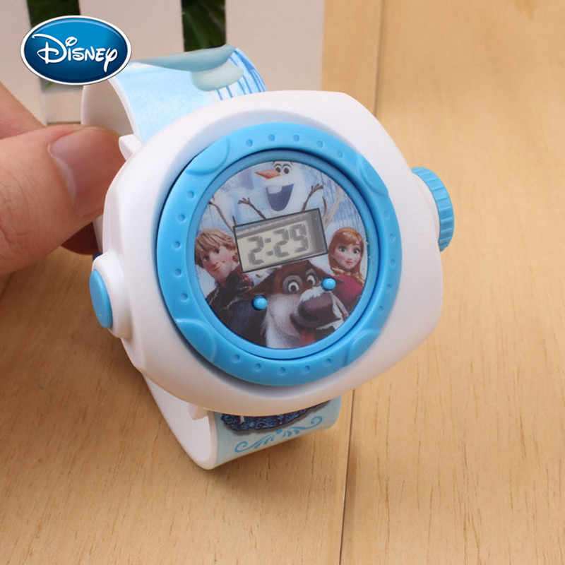 Relojes digitales Disney, 1 Uds., figuras de acción de dibujos animados Led de Spiderman, Iron Man, Blancanieves, regalo para chico, reloj de juguete