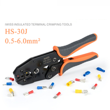 HS-30J 0.5-6mm² crimp cable wire cutter pliers IWISS crimper stripper tool crimping plier HS-30J multi hands tool цена 2017