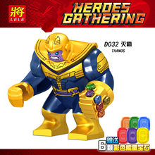 Legoing Avengers 3 Infinity War Super Heroes Thanos With Power Stones Marvel Figures Building Block Legoings Avengers 4 End Game(China)