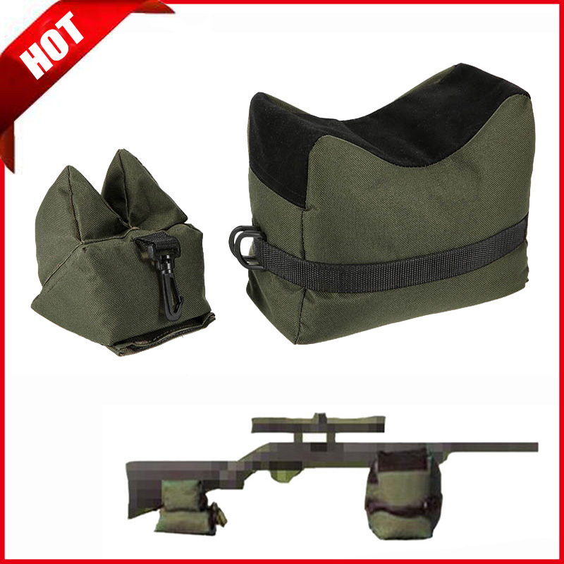 Tactical Sniper Shooting Gun Rest Bag Set Front & Rear Rifle Target Bench Unfilled Stand Support Sandbag Hunting Accessories Bag