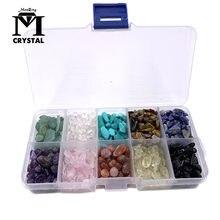 Dez tipos de cristal natural e pedra preciosa quartz rock mineral espécie cura reiki decoração de casa
