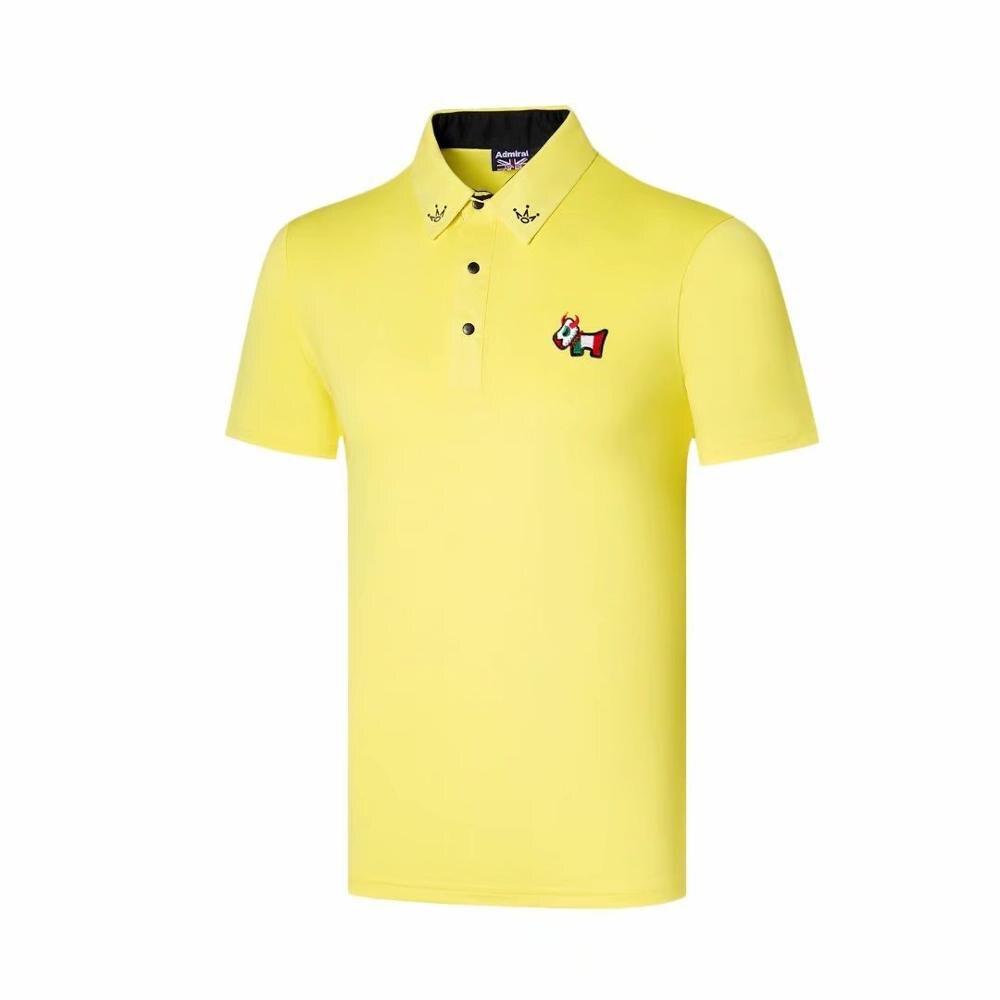 Men New  Summer Golf Shirts Outdoor Sportswear Short Sleeve Tits Men Golf Polos Shirt Badminton Running Soccer Jerseys Shirts