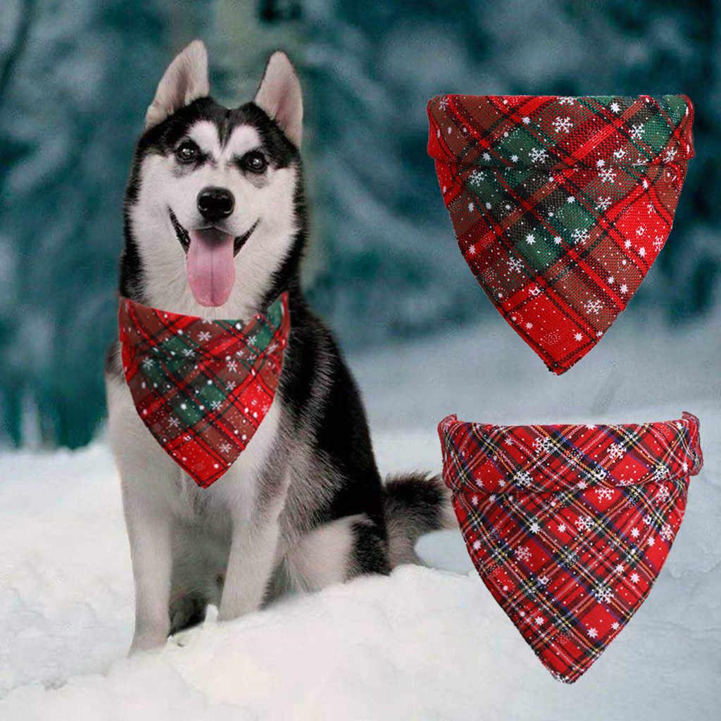 عيد الميلاد الحيوانات الأليفة طوق بكلاب جرو باندانا عيد الميلاد هدية المرايل وشاح طوق قابل للتعديل الحيوانات الأليفة منديل منشفة لعاب الأطفال الكلاب الصغيرة الكبيرة 7P