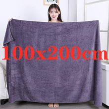 100X200cmSuper thick Microfiber Bath Towels – Super Absorbent, Soft, Fast Drying and Oversized Bath Lines Multip Grey towel