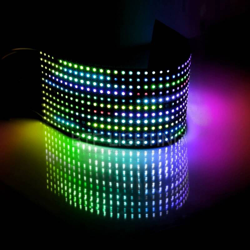 DC5V 8*8,16*16,8*32 WS2812B 256 Pixels Panel Individually Addressable Led Flexible Screen Matrix Light