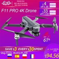 Drone f11 pro 4k hd, helicóptero de controle remoto com câmera gimbal de 3 eixos, wi-fi, fpv, gps, sem escovas, dobrável, quadricóptero, uso profissional, novo, 2021
