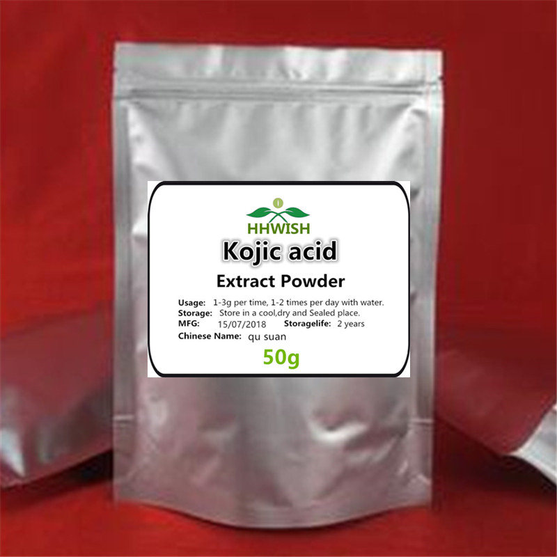 50g-1000g Kojic Acid Extract Powder,99% Kojic Powder,qu Suan, Quality Skin Products ,Analgesic And Anti-inflammatory