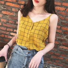 Women Sleeveless Camisole Tank Top Chiffon Loose Fit Strappy Summer Top Shirt NIN668(China)
