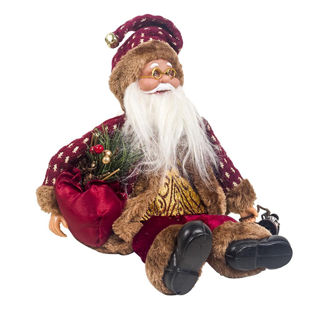 Хит, 30 стилей, рождественские украшения для дома, Рождественские куклы, елочные украшения, инновационная декорация с лосем, Сантой, снеговиком - Цвет: T 24x16cm