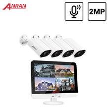 ANRAN 2MP DVR Video Surveillance Security Camera System 13 Inch Monitor Outdoor CCTV Camera System DVR Waterproof Night Vision