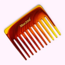 Beard Comb Hair Brush  Single-sided Short 2 Color Large Back Shape Tooth Combtangle Round