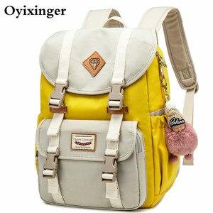 Image 1 - Yeni genç kızlar için okul çantaları sırt çantası öğrenci çocuk çantası özlü su geçirmez kampüs sırt çantaları Plecak Szkolny Mochila Ruedas