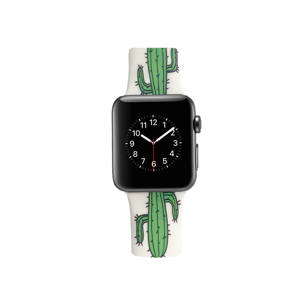 Suitable For Apple APPLE IWatch 1/2/3/4 Generation Durable Soft Cactus Silica Gel Sports Watch Strap