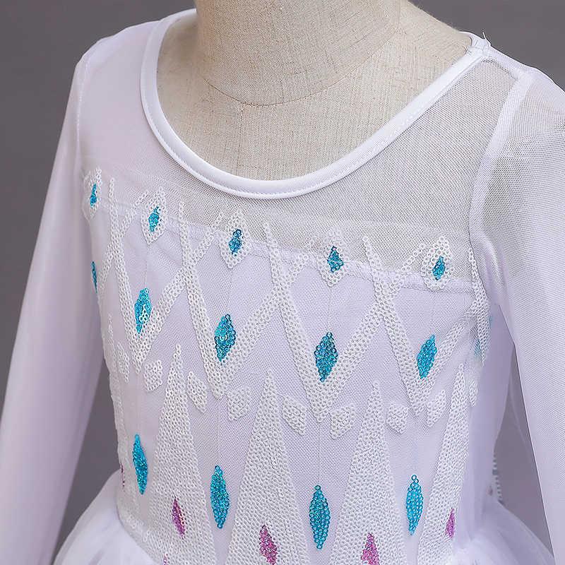 Fantezi Cosplay kız prenses elbise kar tanesi kostüm cadılar bayramı noel için çocuklar parti elbiseler tatil kız giyim