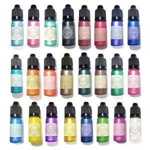 Image 3 - 24 Pcs 10ML Pha Lê Nhựa Dính Sắc Tố Nhựa Chống UV Tô Màu Nhuộm Thủ Công Tự Làm Trang Sức Làm Nghệ Thuật Thủ Công Chất Lỏng Chất Tạo Màu trang Sức Giọt