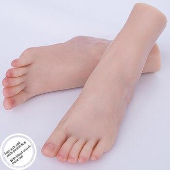 Blood Vessels Plump Female Foot Model Fake Nail Art Liquid Silicone 1:1 Lifesize ZISHINE TG3800 fake foot model stockings mannequin rubber plastic art silicone female male tpe zishine 3600