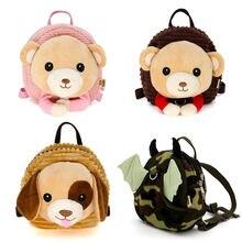 Mochila infantil de animais anti-perda, mochila de 100cm com corda de tração para segurança das crianças correia, cinta