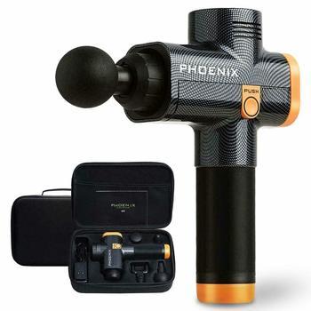 Black /Silver Phoenix Massage Gun A2 Upgrade Percussive Vibration Therapy Athlete Sports Recovery with EVA Box