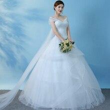 Vestido de noiva, estilo ombro, princesa, luz, casamento, baile, renda