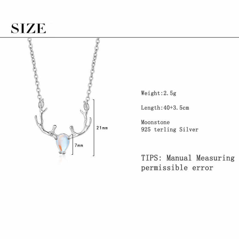 The Naturally Derived deer antler talisman necklace with rainbow Labradorite crystal.