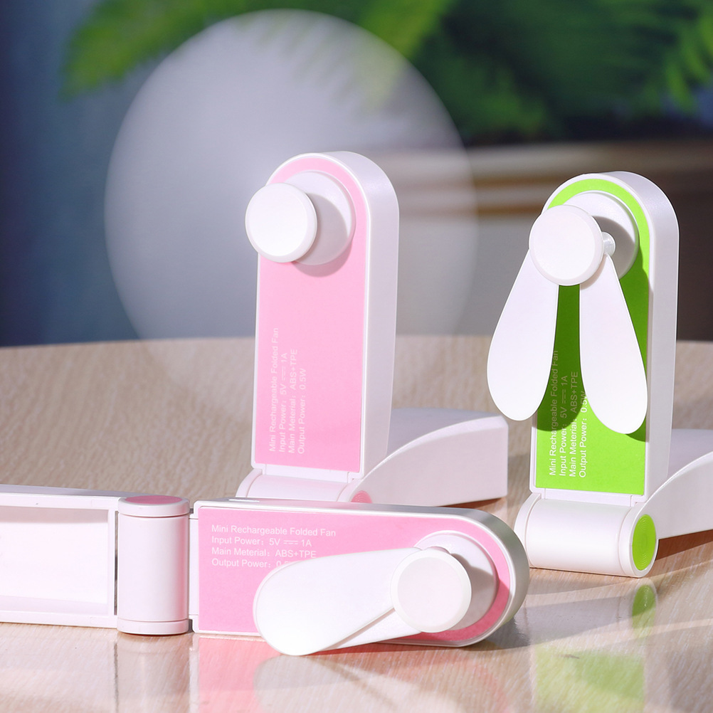 Usb Pocket Fold Fans Electric Portable Hold Small Fans Originality Small Household Electrical Appliances Desktop Electric Fan