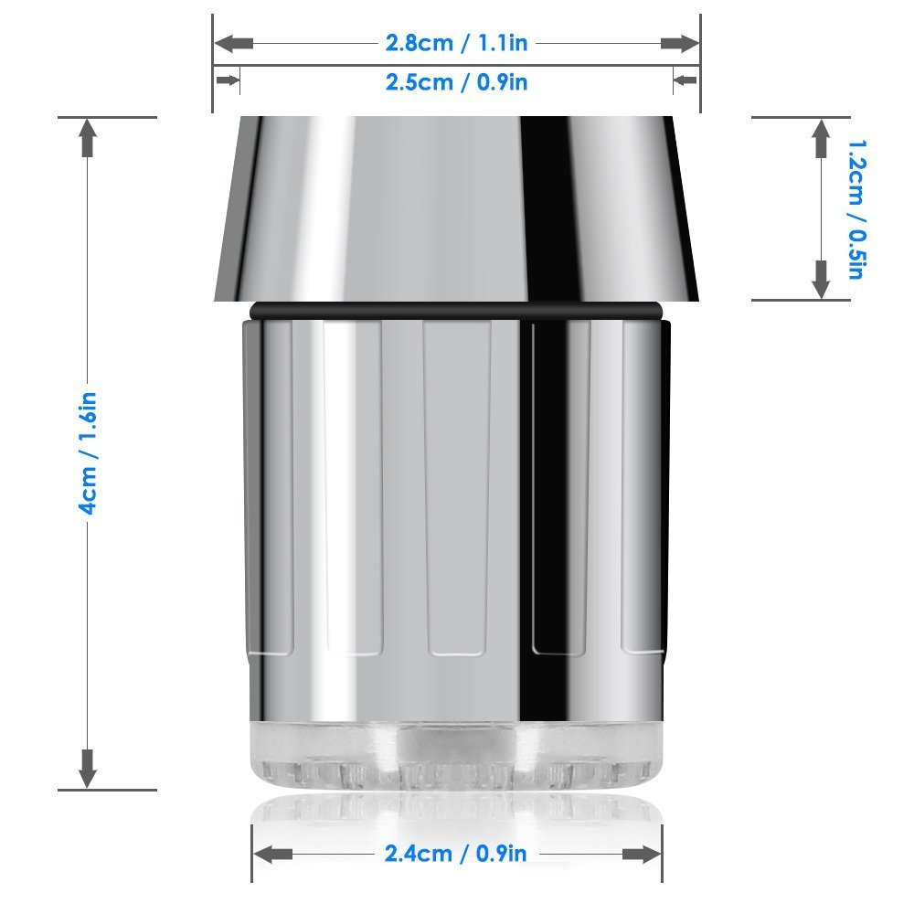 EHEH 3 Color Faucet Aerator LED Light Temperature Control Adapter Kitchen Bathroom Accessory Water Saving