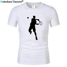 Cool tennis player printed men's T-shirt 2019 fashion high quality brand funny Fashion Top Tshirt