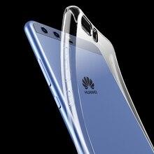 טלפון בחזרה למקרי Huawei P10 / P10 לייט/P10 בתוספת סיליקון כיסוי Slim דק שקוף עמיד הלם רך TPU p10Lite P10Plus