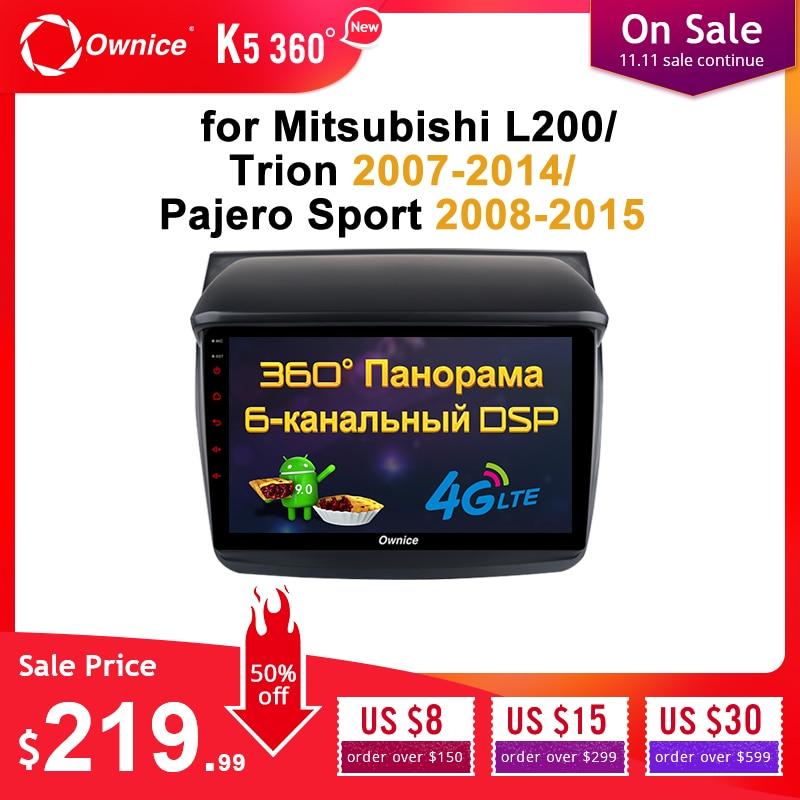 Ownice 360 Panorama 2Din autoradio Octa Core Android 9.0 GPS Navi pour Mitsubishi L200/Trion 2007-2014/Pajero Sport 2008-2015