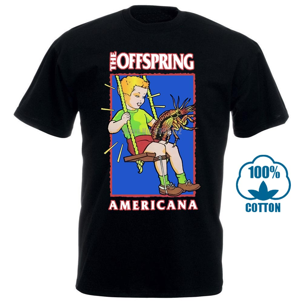 Men T Shirt Vintage 1998 The Offspring Americana Giant Funny T Shirt Novelty Tshirt Women