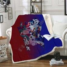 Autobots transformation robot Blanket Design Flannel Fleece Blanket Printed Children Warm Bed Throw Blanket Kids Blanket style-7